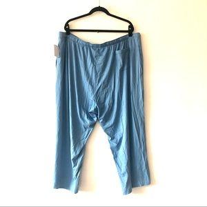 Derek Rose London Aqua Pajama Lounge Pants